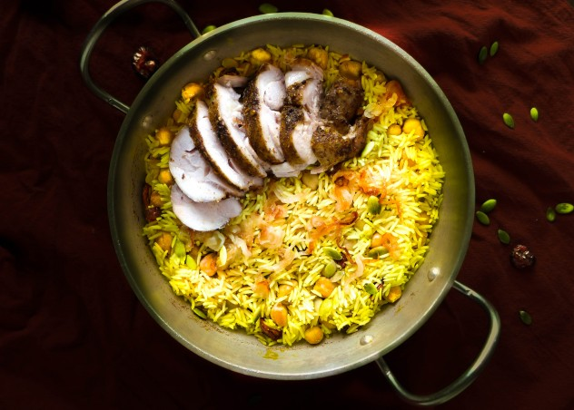 Harvest Biryani With Chickpeas, Dried Cranberries & Pepitas