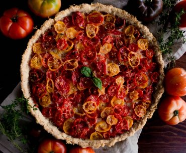 Heirloom Tomato Tart with Gruyère & Thyme